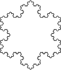 A fractal, the Koch snowflake