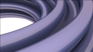 A close-up of the initial torus after one convex integrations